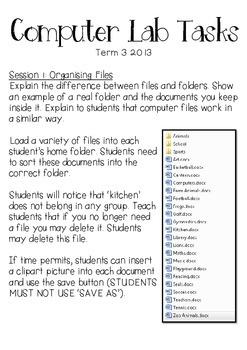 Computer Lab Tasks Planner 1
