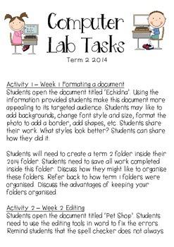 Computer Lab Tasks Planner 4
