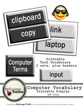Computer Lab Tech Vocabulary Printable