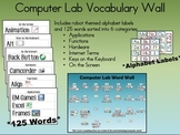 Computer Lab Technology Vocabulary Word Wall
