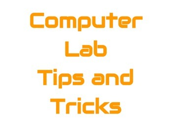 Computer Lab Tips and Tricks Posters: Simple