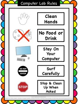 Computer Lab Visual Rules