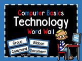 Computer Basics Technology Word Wall