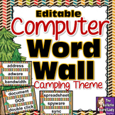 Computer Lab -Word Wall Camping Theme