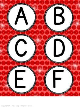 Computer Lab Word Wall Rock Star Theme