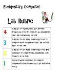Computer Lab rubric