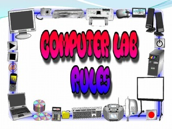 Computer Lab rules - set of 20