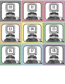 Computer Labels #1-40 - chevron