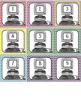 Computer Labels #1-40 - chevron