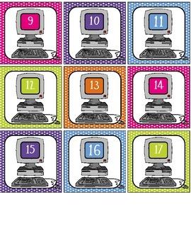 Computer Labels #1-40 - polka dots