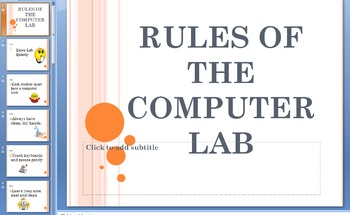Computer Lesson Plan - Do's and Don'ts of the Computer Lab