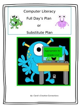 Full Day of Plans using a Computer Theme
