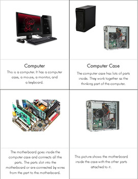Computer Literacy: Parts of a Computer cards