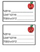 Computer Login Cards - Apples