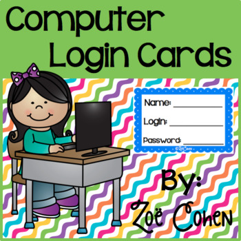 Computer Login Cards (Rainbow Scallop)