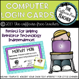 Computer Login Cards for Students
