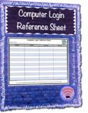 Computer Login Reference Sheet