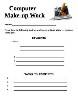 Computer Make-up Work Form