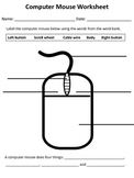 Computer Mouse Worksheet