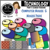 Computer Mouse with Mouse Pad Clip Art, Click Mouse (Smita Keisser Clip Art)