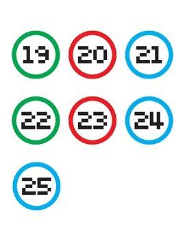 Computer Number Labels