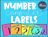 Computer Number Labels