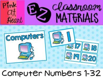 Computer Numbers 1-32 FREEBIE