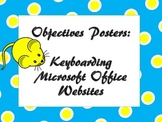 Computer Objectives Posters: Keyboarding, Microsoft Office, Websites