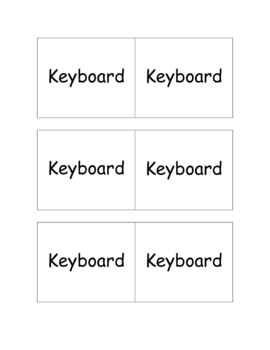 Computer Parts Memory Matching Vocabulary