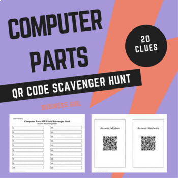 Computer Parts QR Code Scavenger Hunt