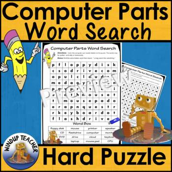 Computer Parts Word Search *Hard