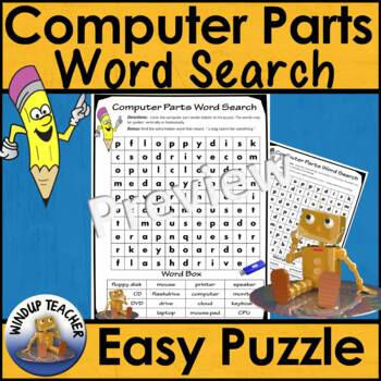 Computer Parts Word Search * Easy