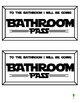 Computer Pass, Library Pass, Bathroom Pass