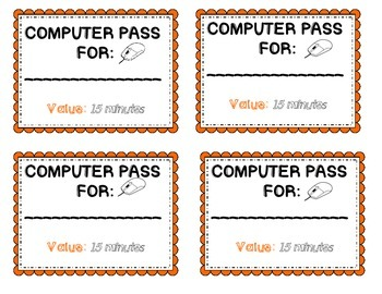 Computer Pass incentive