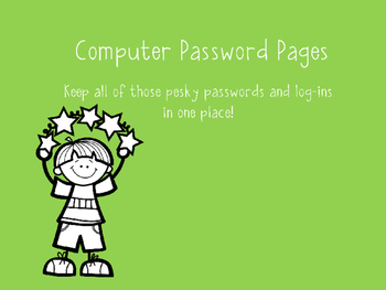 Computer Password Pages