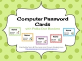Computer Password and User Name Cards