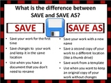 Computer Poster: Save VS. Save As