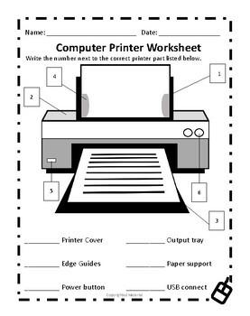 Computer Printer Worksheet
