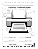 Computer Printer Worksheet
