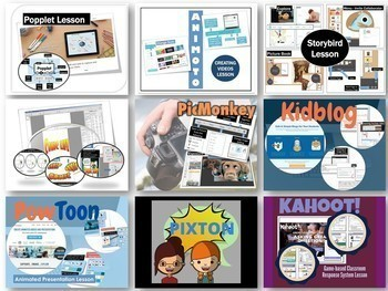 Computer Lessons Bundle #2 Popplet Storybird Comic Life Powtoon