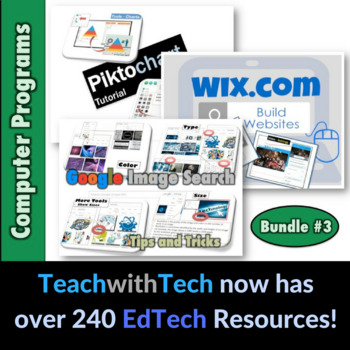 Computer Lessons Bundle #3 ClassDojo Edmodo Padlet Wix Piktochart
