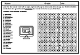 Computer Programming Vocabulary Word Search Worksheet, No
