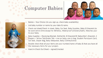 Computer Real Care Babies Power Point & Project Information Sheets