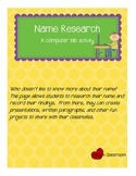 Computer Research: My Name