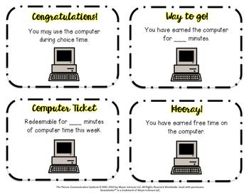 Computer Reward Tickets