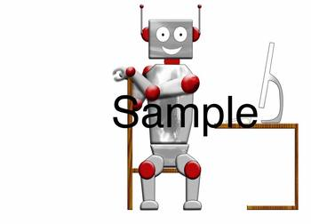 Computer Robot Clip Art / Images-  Great for Behavior Management