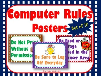 Computer Rules Poster Set