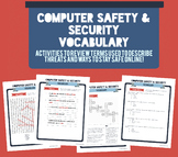 Computer Safety & Security Vocabulary Activity Packet