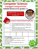 "Computer Science: Computer Programming ""Angry Birds Game"" Editable Resource"