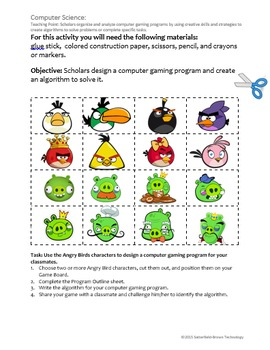 """Computer Science: Computer Programming """"Angry Birds Game"""" Editable Resource"""